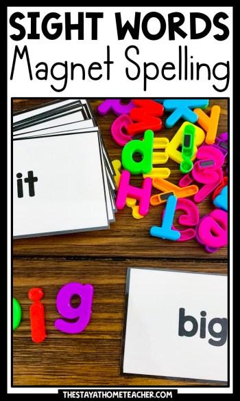 sight word magnet spelling