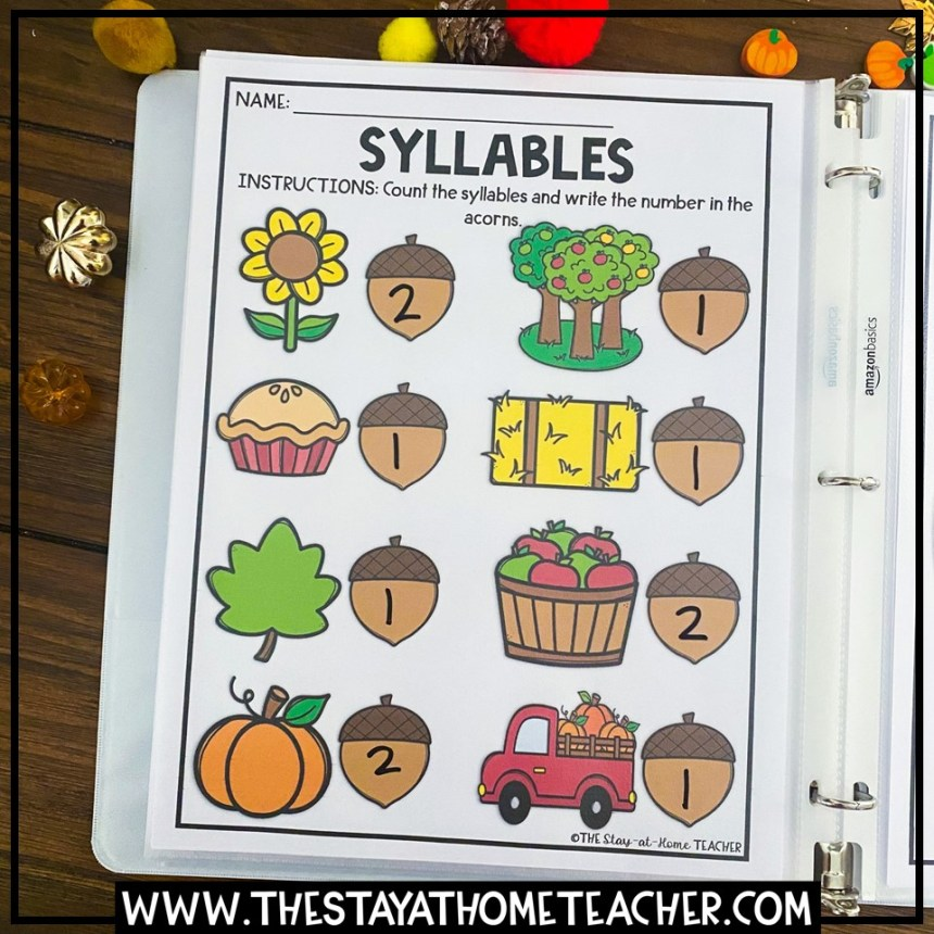 syllables page