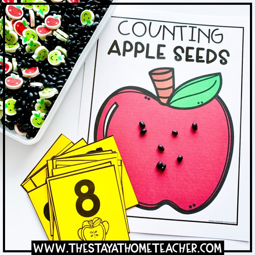 counting fall apple seeds