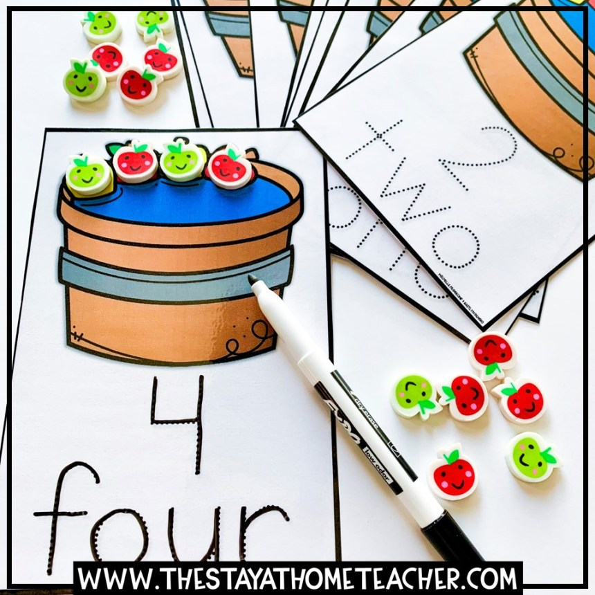 fall apples number tracing