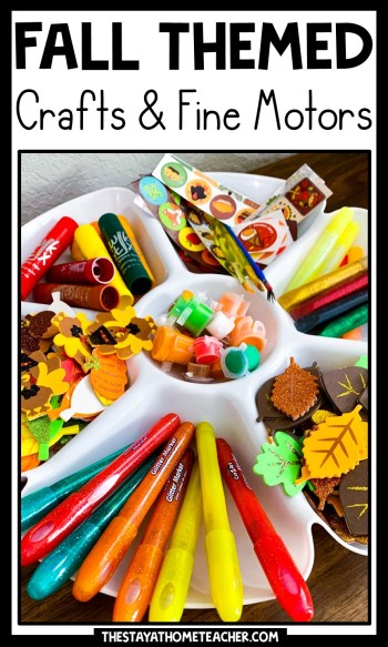 fall crafts and fine motor activities pin