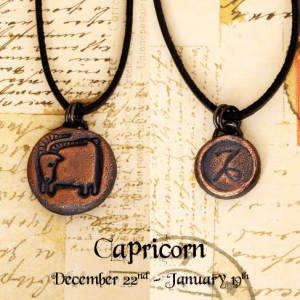 Zodiac and Horoscope Charm Necklace - Capricorn