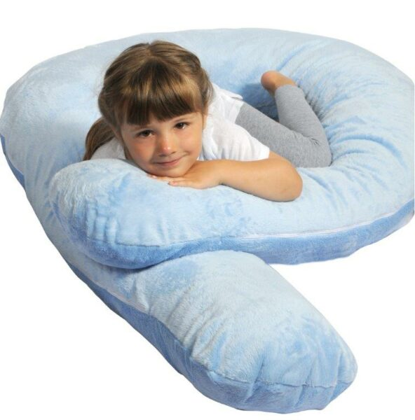 Moonlight Slumber ComfortU Kids Body Pillow  Light Blue