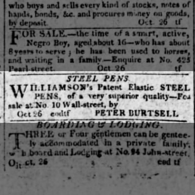 1808 Williamson's elastic steel pens