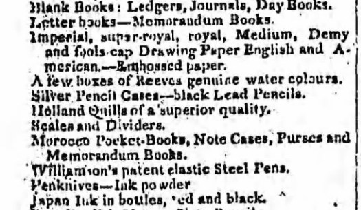 1813 Williamson pens