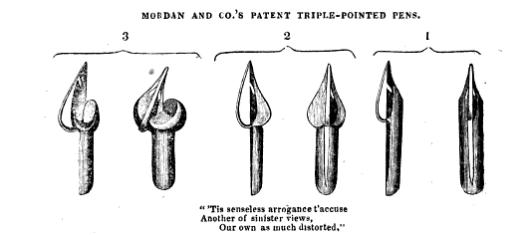 1836 Gowland Mordan triple point pen from Mechanics Magazine