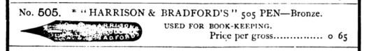 1883 Esterbrook Harrison and Bradford 505 pen