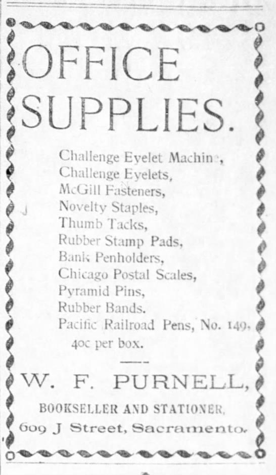 1895 ad for Pacific Railroad Pen no maker