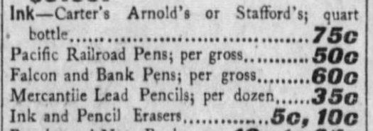 1902 Pacific Railroad Pens ad