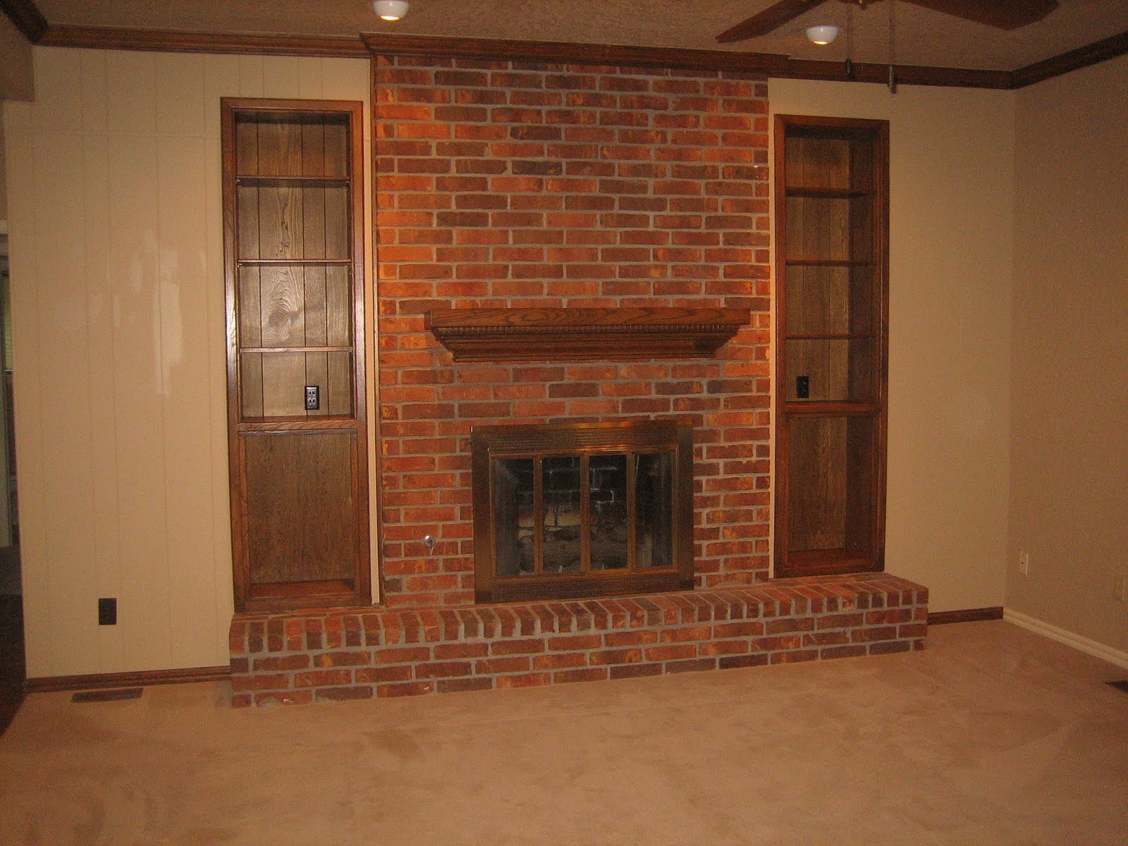 Painted Brick Fireplaces Painting Brick Fireplaces Brick New House Before & After: The Fireplace (again) | The