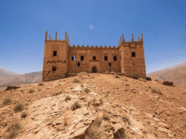 """A £5 Million Wreck – Kasbah Tagountaft, Morocco for sale Ruined Moroccan fortress fit for the most lavish of bashes for sale for £5.3 million through Kensington Properties; Kasbah Tagountaft may be """"spectacular"""" but it most certainly doesn't have Wi-Fi."""