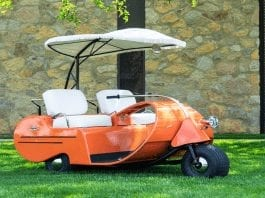 Gas & Golf – Rare 1957 Jato Walker petrol golf cart to be auctioned – Rare example of first ever production petrol powered golf cart to be auctioned; the 1957 Jato Walker Executive, however, does not come cheap – 1957 Jato Walker Executive to be auctioned by RM Sotheby's as part of their 'Driving Into Summer' online auction from 21st to 29th May 2020. It has an estimate of £8,200 to £12,300 ($10,000 to $15,000, €9,300 to €13,900 or درهم37,000 to درهم55,000).