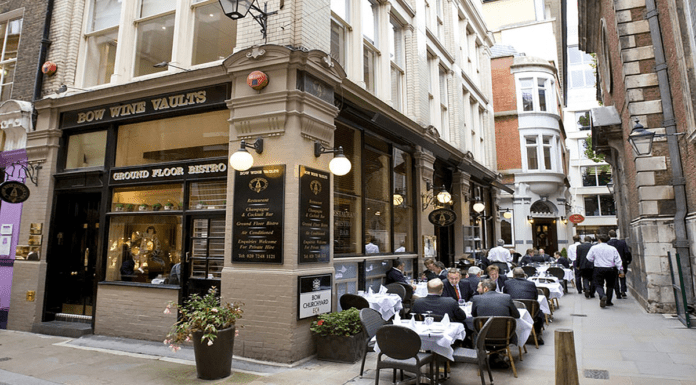 Bow Wine Vaults Back – Bow Wine Vaults reopens on 6th July 2020 – Restaurateur Philip Lawless to reopen Square Mile institution the Bow Wine Vaults, 10 Bow Churchyard, London, EC4M 9DQ on Monday 6th July 2020.