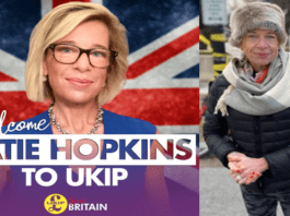 """Katie UKIPpers – Is Katie Hopkins looking to become UKIP leader in 2021? """"Gaunt"""" looking Katie Hopkins joins UKIP in time for its next (of many) leadership contests and is """"spotted lurking"""" in Washington in spite of unsurprisingly being 'NFI'd' to Joe Biden's inauguration."""