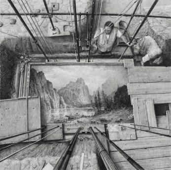 © Ethan Murrow, Wake, graphite sur papier, 76,2 x 76,2 cm