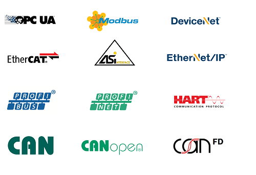 logos of industrial communication protocols