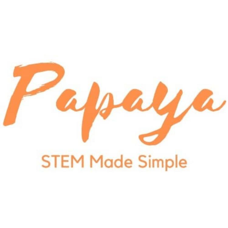 Papaya Tutoring Orange Logo, STEM made simple