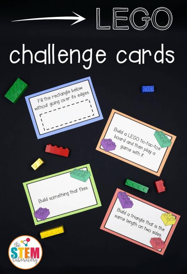 Stem LEGO Challenge Cards Printable