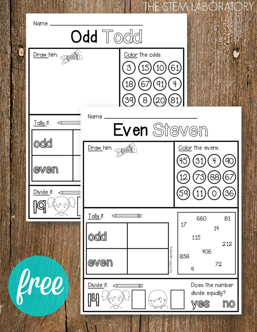 hight resolution of Odd and Even Activity Sheets - The Stem Laboratory