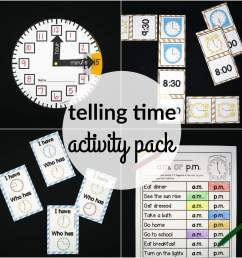 Telling Time Activity Pack - The Stem Laboratory [ 2000 x 2000 Pixel ]