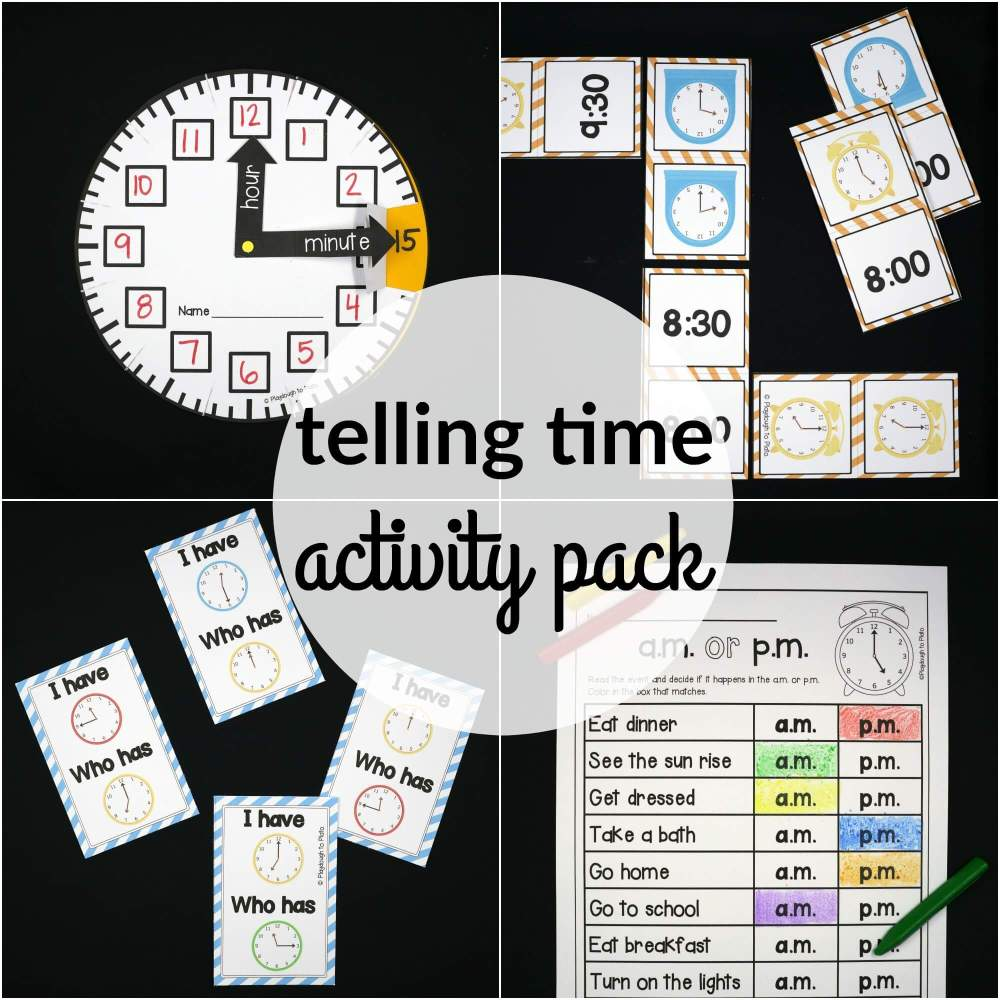 medium resolution of Telling Time Activity Pack - The Stem Laboratory