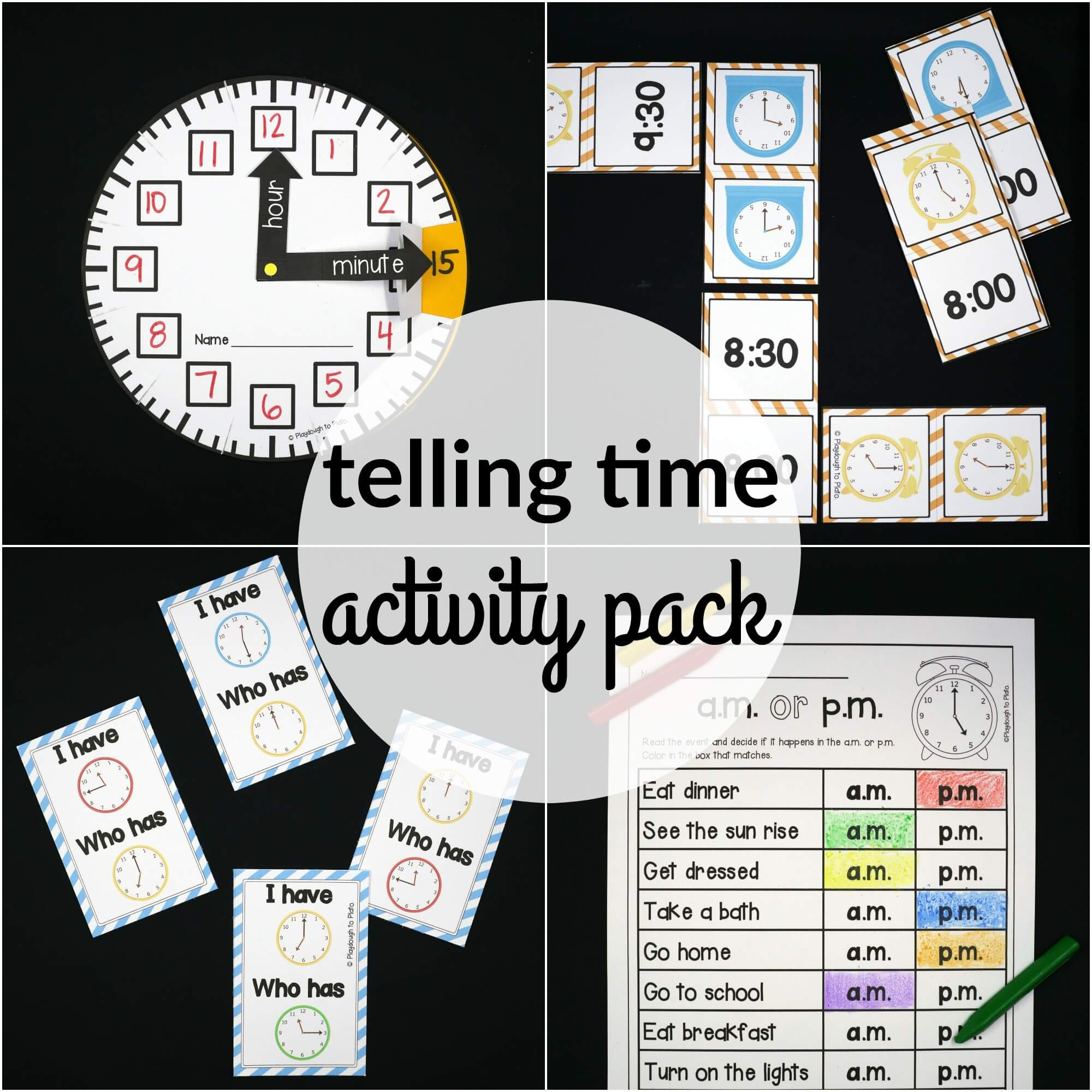hight resolution of Telling Time Activity Pack - The Stem Laboratory
