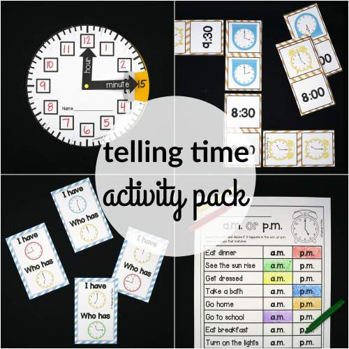 small resolution of Telling Time Activity Pack - The Stem Laboratory