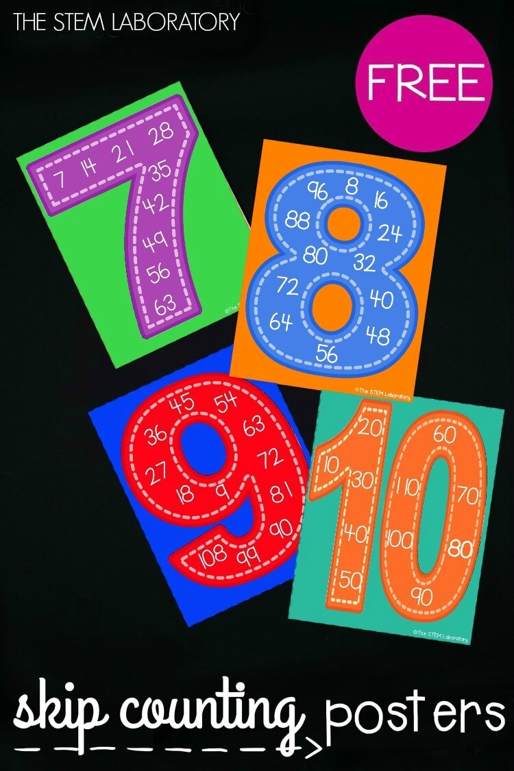 Skip Counting Posters : counting, posters, Counting, Posters, Laboratory