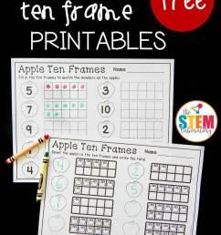 Apple Ten Frame Printables - The Stem Laboratory [ 1344 x 960 Pixel ]