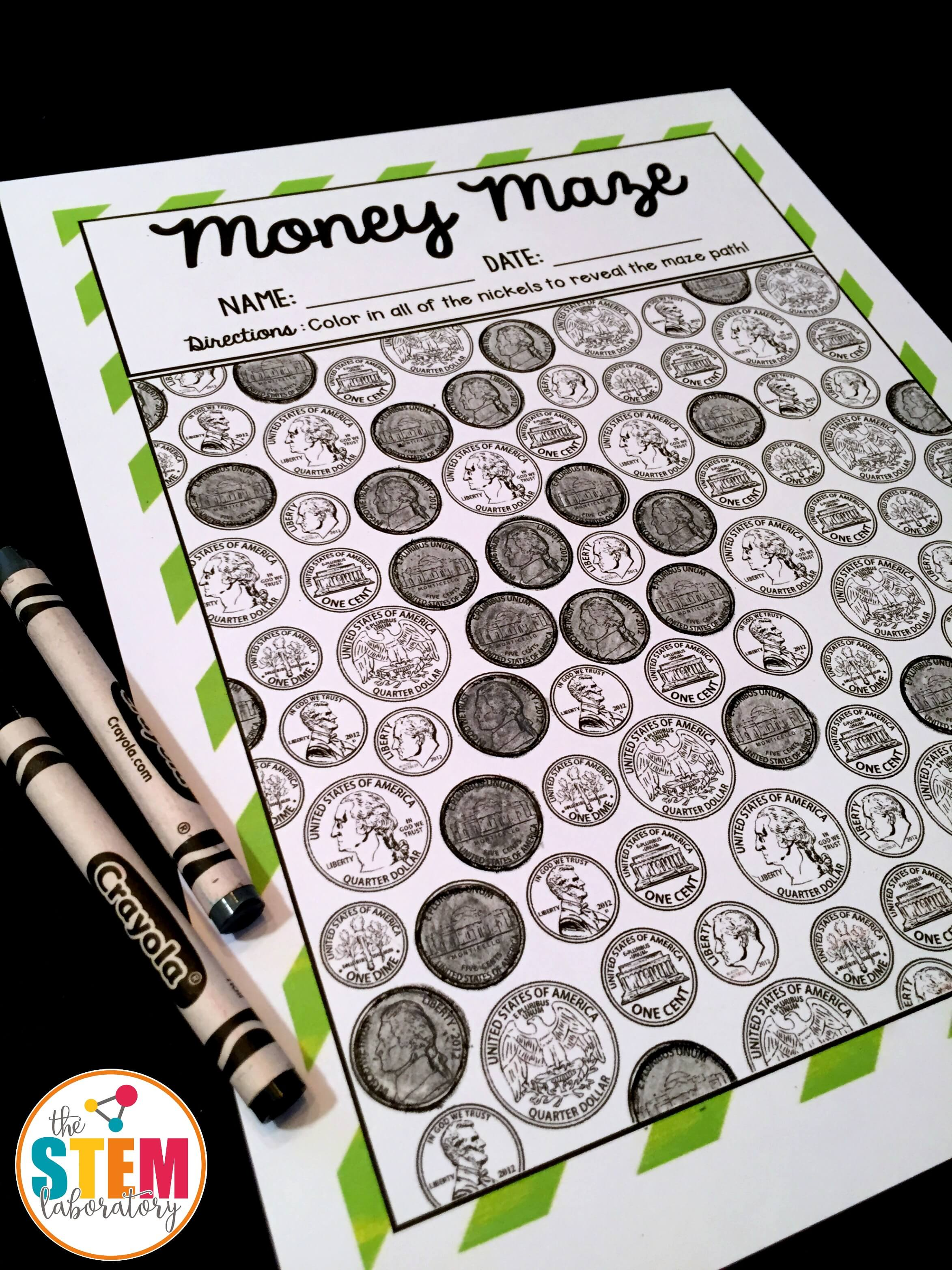 Coin Identification Money Mazes