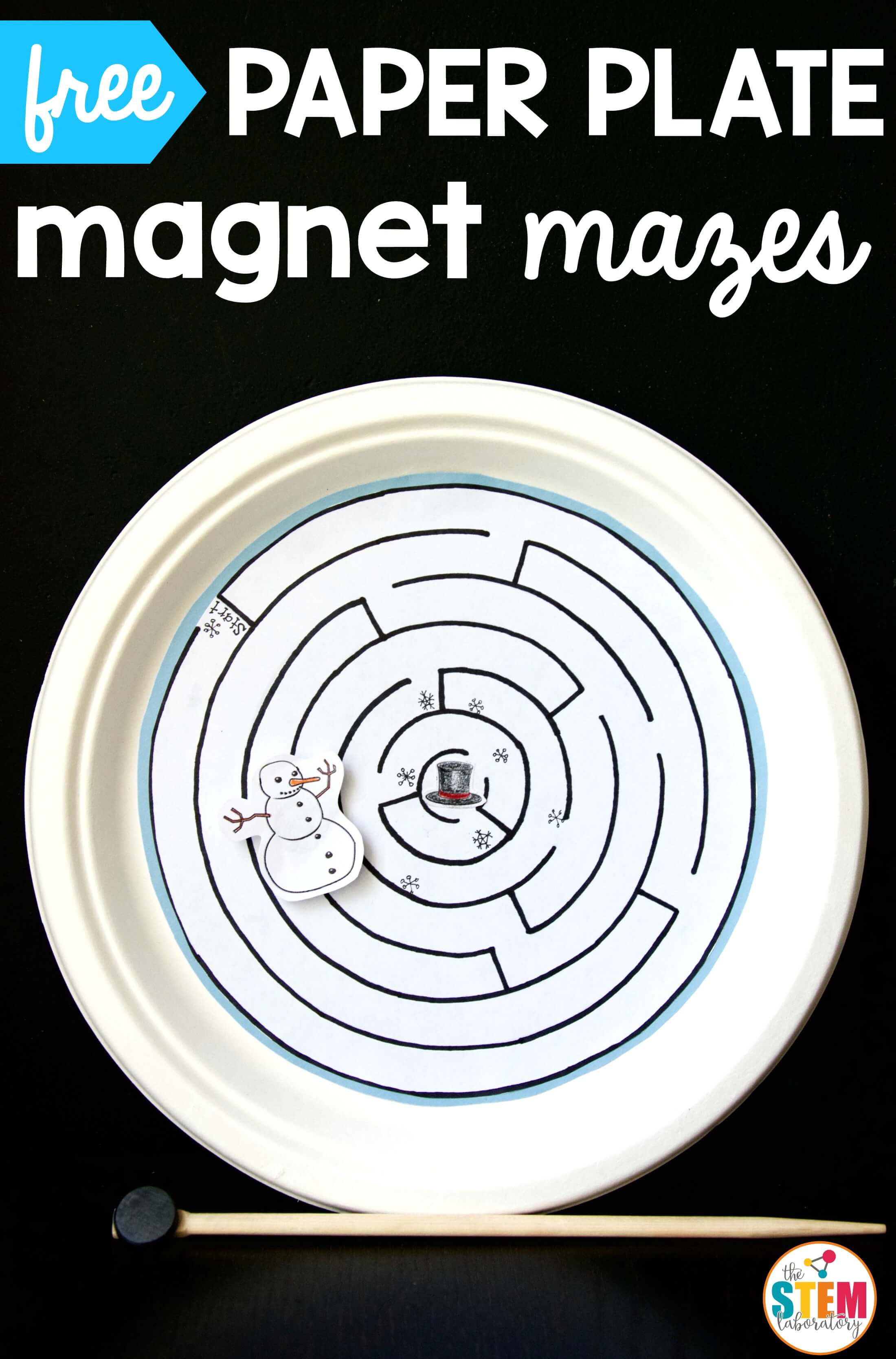 Magnetic Paper Plate Maze