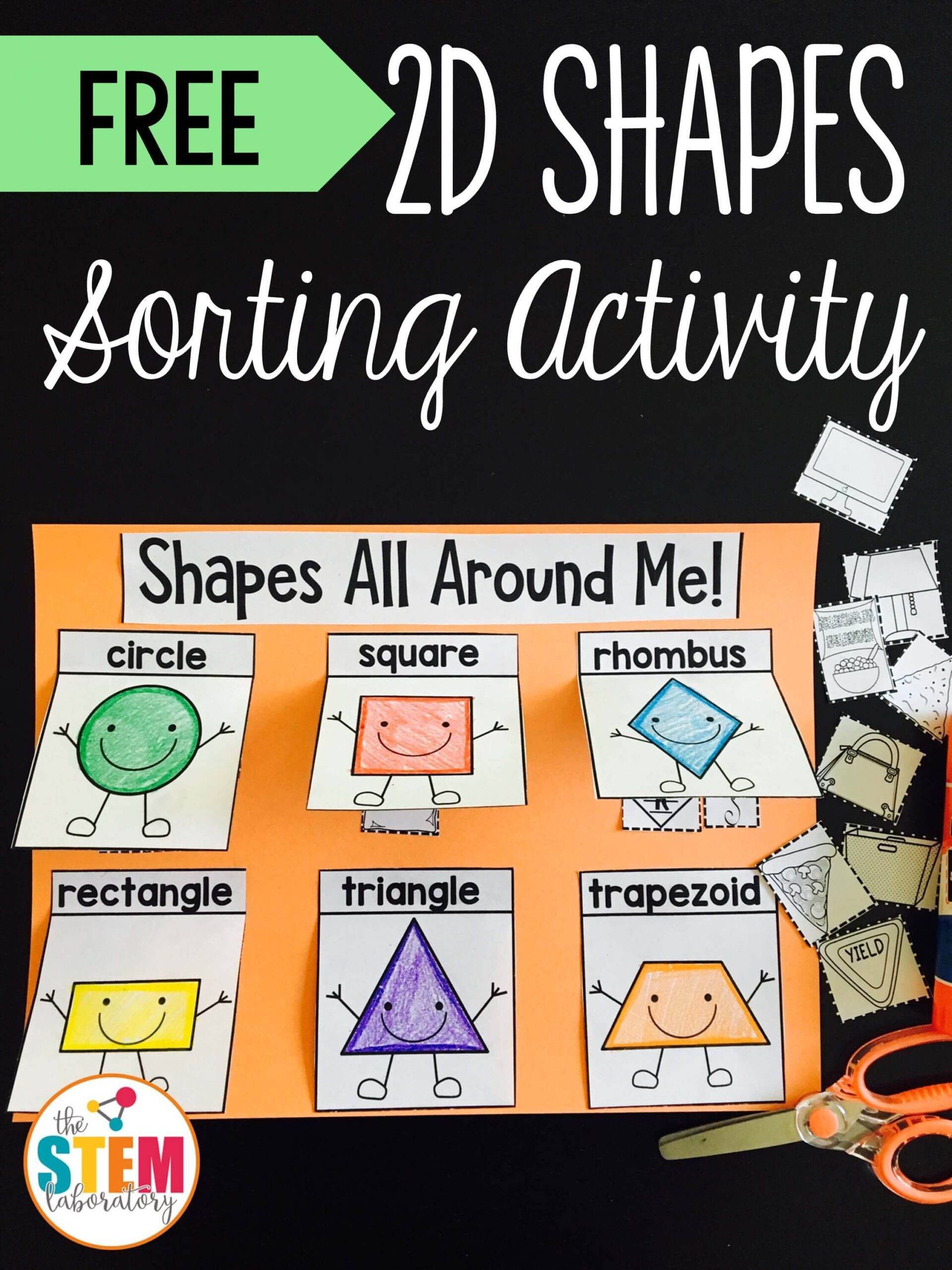hight resolution of 2D Shapes Sorting Activity - The Stem Laboratory