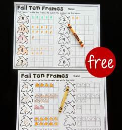 Fall Ten Frame Printables - The Stem Laboratory [ 1344 x 960 Pixel ]