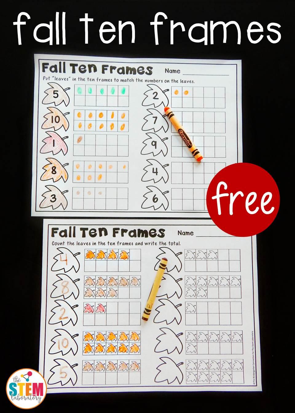 medium resolution of Fall Ten Frame Printables - The Stem Laboratory