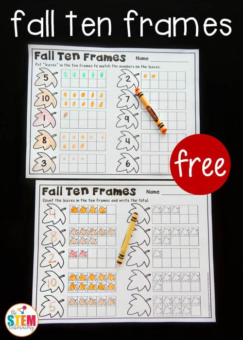 small resolution of Fall Ten Frame Printables - The Stem Laboratory