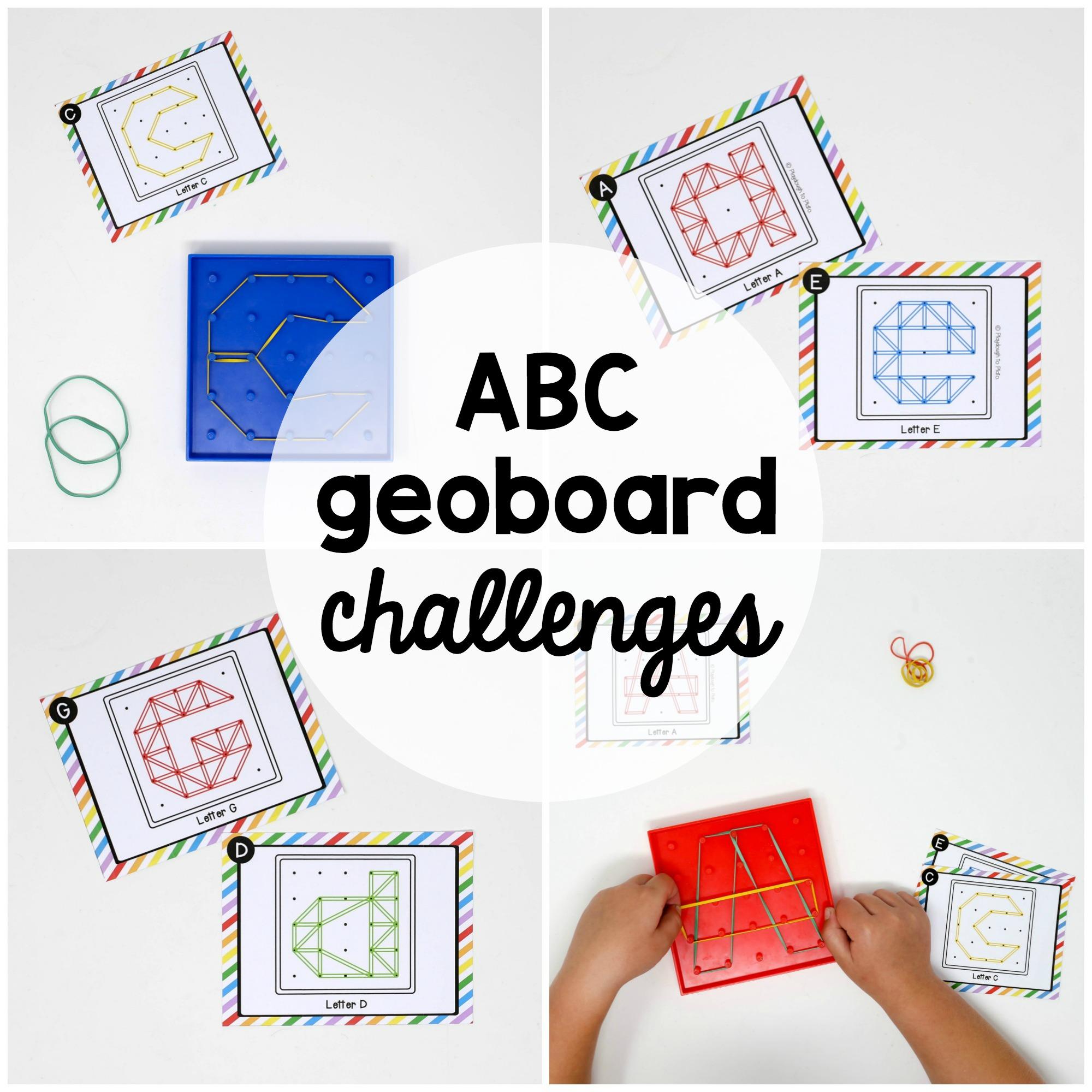 Alphabet Geoboard Challenges