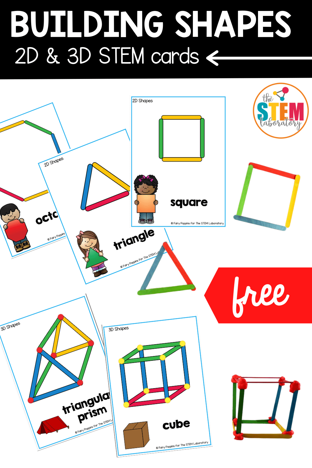 hight resolution of Building Shapes STEM Cards - The Stem Laboratory