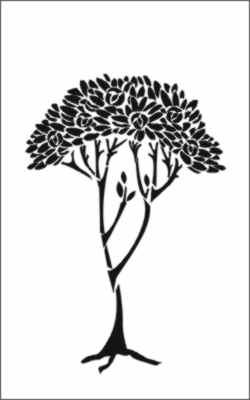 Art Nouveau Tree : nouveau, Nouveau, Stencil, Company