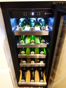 Our beer fridge 'supplied by Heineken' !!