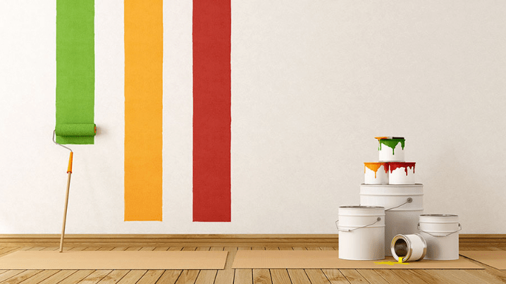 Painting a Wall at Home
