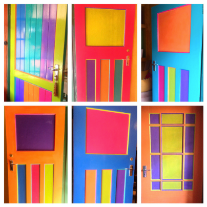 Multi Coloured Doors
