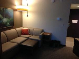 Hyatt Place Couch & Ottoman