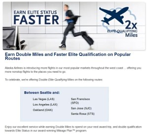 AlaskaAir Double EQM Promotion