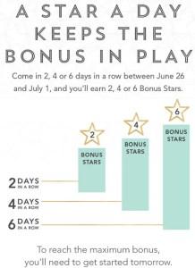 Starbucks Bonus Stars Promotion