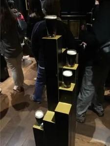 Mini pint glasses of Guinness