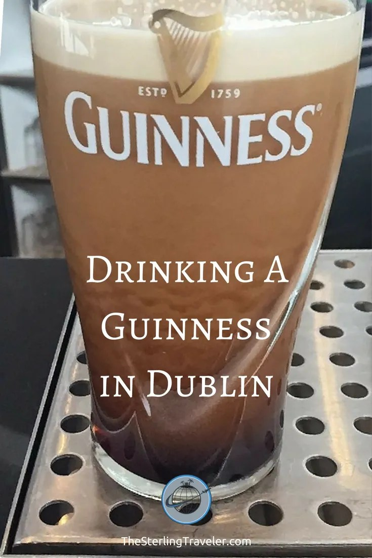 Drinking a Guinness in Dublin