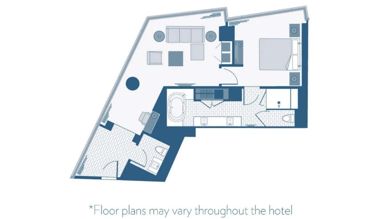 aria corner suite review the sterling traveler gallery for gt vdara city corner suite floor plan