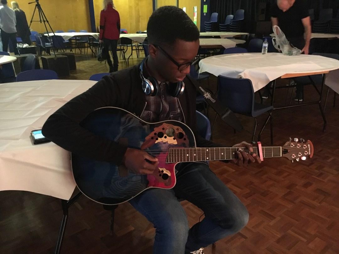 Jordan rehearsing