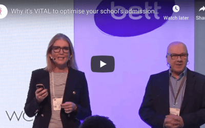 VIDEO: short, sharp blast of why optimising school admissions is VITAL!