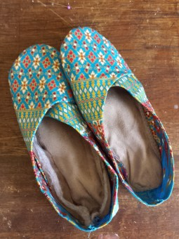 Amazing slippers - carefully cutting out and accurate stitching produces a fantastic result.